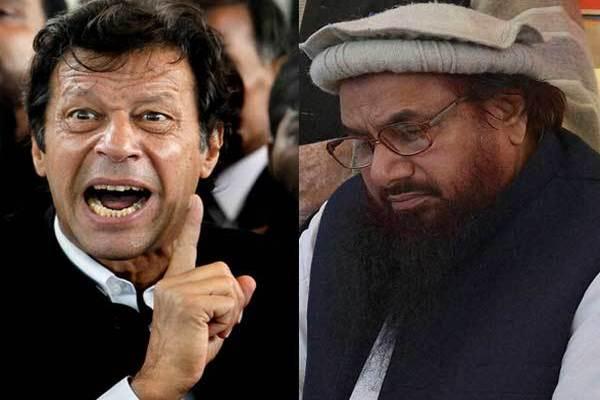 Imran Khan (left) and terrorist Azhar Masood