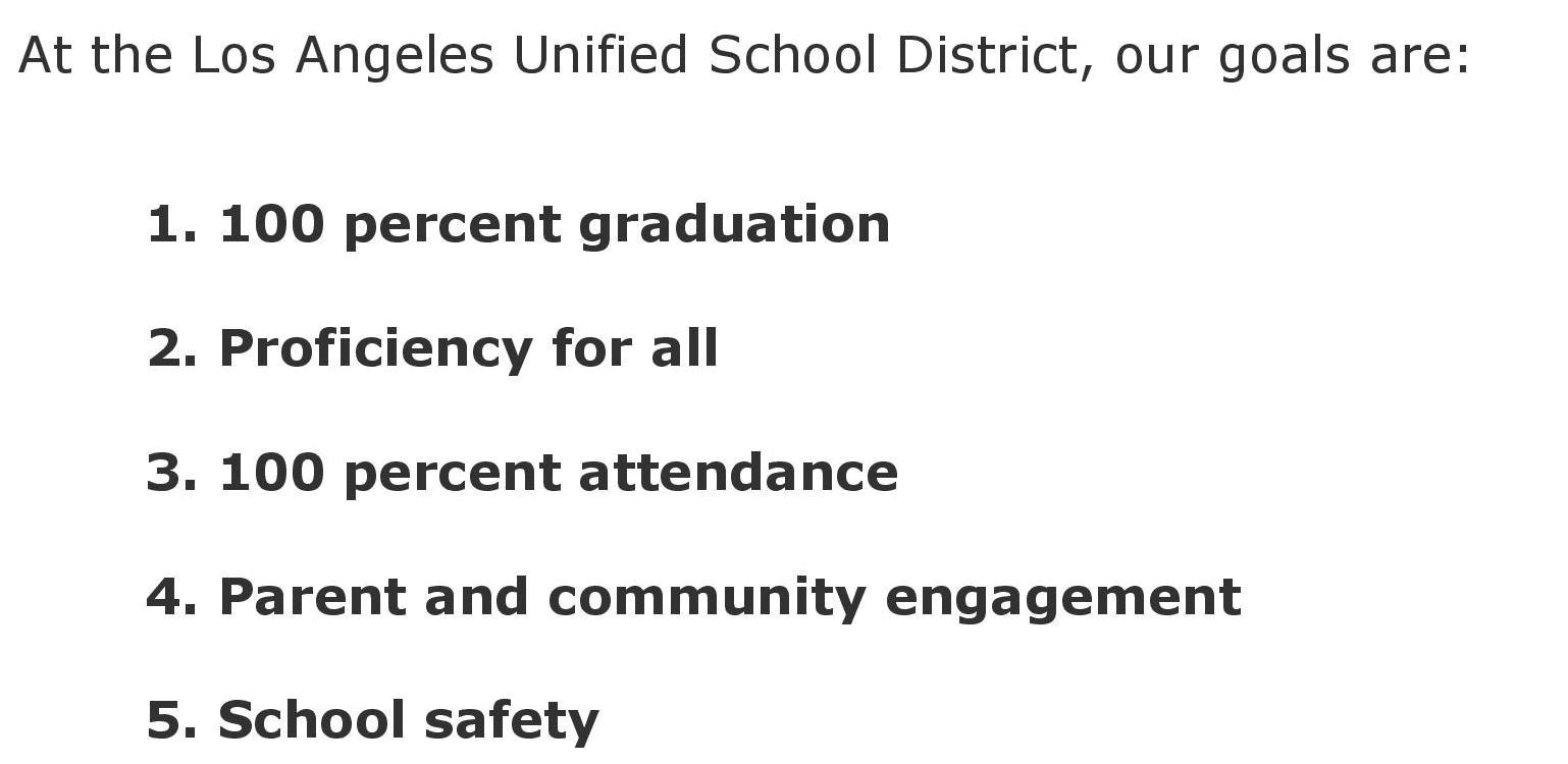 From the LAUSD website