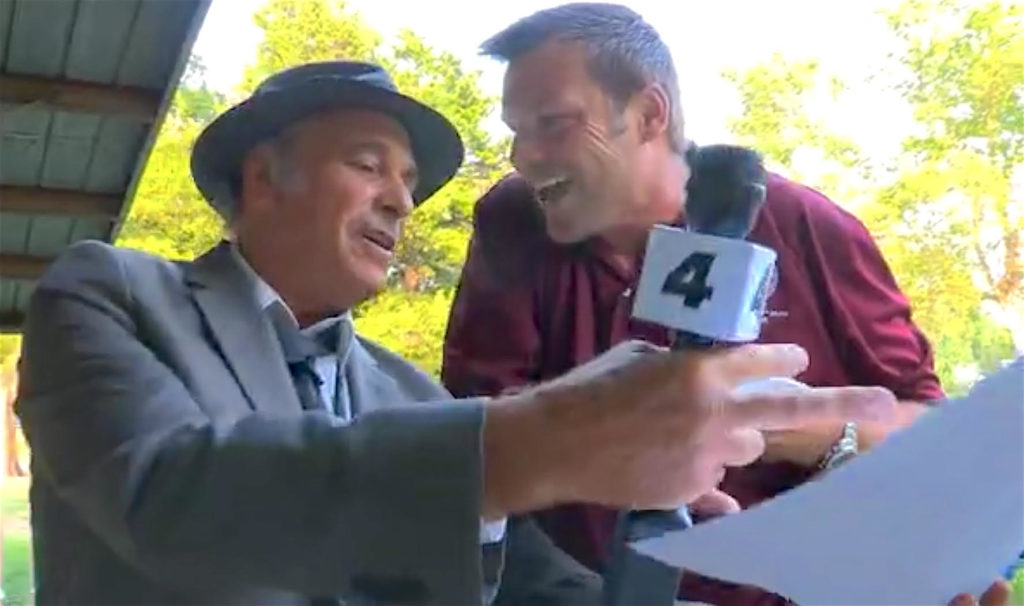 Greg Palast confronts Kris Kobach with Kobach's own internal files:  a list of clearly innocent