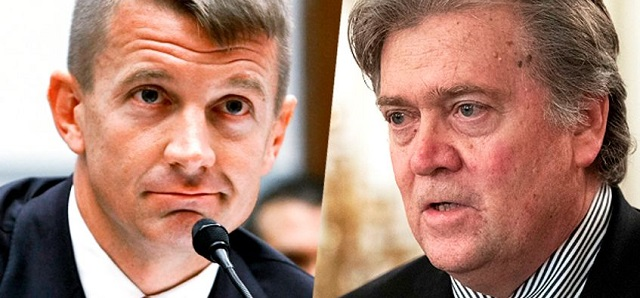 Blackwater mercenary company founder Erik Prince and the self-appointed leader of Fascist International Steve Bannon have joined forces and dusted off the old discredited neo-conservative theory of