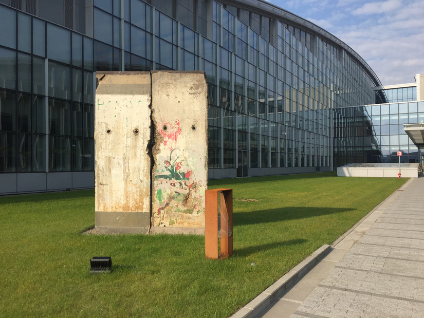 Berlin Wall remnant outside NATO'S Brussels headquarters.