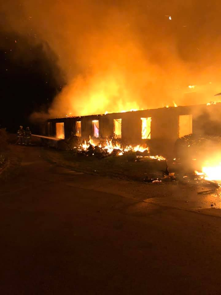 Highlander Center fire, March 29, 2019, From InText