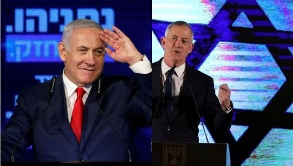 This is a straightforward slugging match between the right wing (Gantz) and the even more right wing (Netanyahu)