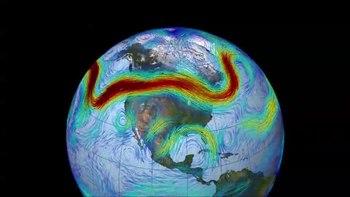 Meandering polar jet stream, From InText