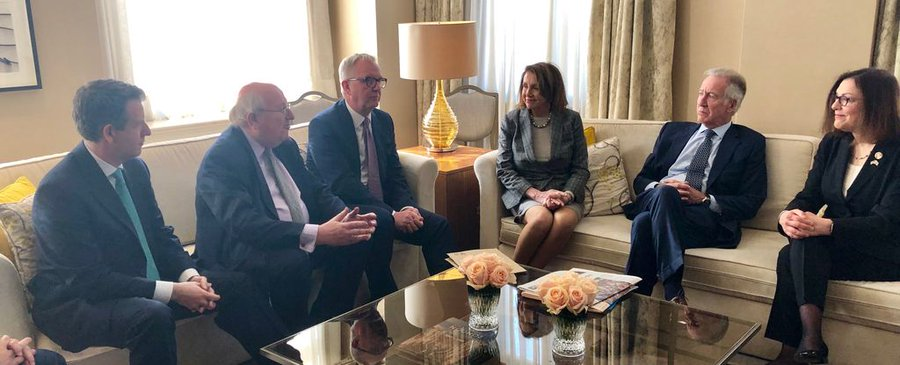 Nancy Pelosi meets with three former UK Labour MP's who left the party over Israel and alleged anti-Semitism. April 14, 2019.
