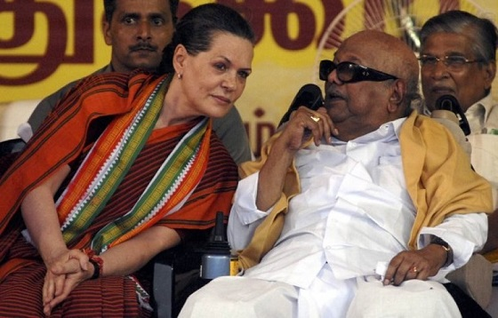 Sonia Gandhi: Leaning to wean away DMK, From InText