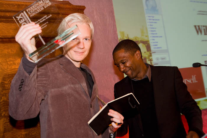 Assange and WikiLeaks won The Economist New Media Award at the 2008 Freedom of Expression Awards.