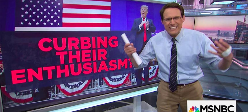 MSNBC's Steve Kornacki imparts polling wisdom to the viewers in the run-up to the 2018 Midterm elections., From InText