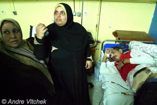 Port Said - bullet through kidneys