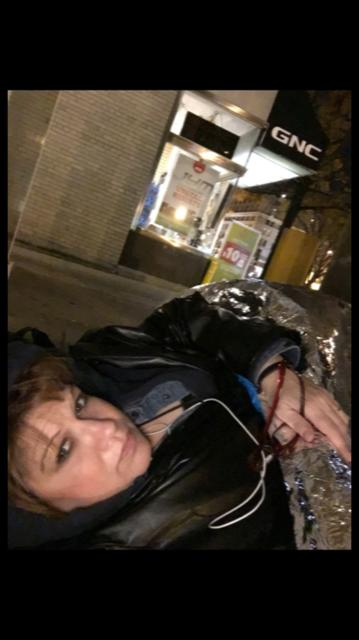 Kelly Miller Homeless & sleeping on the street in Washington DC