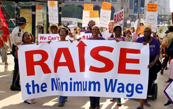 Chicago Raise the Minimum Wage rally