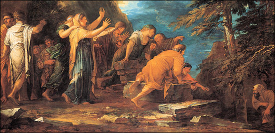 Pythagoras emerging from the underworld (Salvator Rosa, 1662), From InText