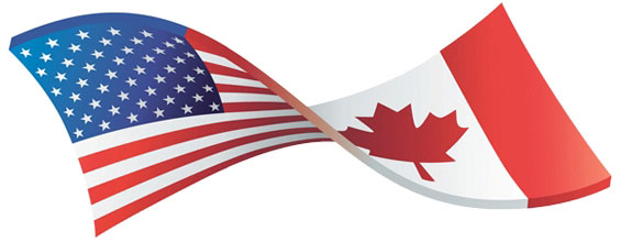 US/Canadian flags