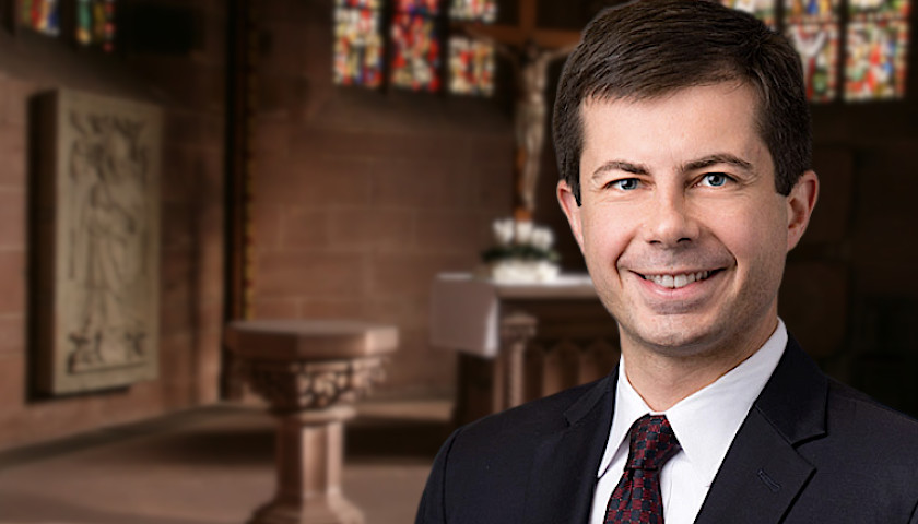 Pete Buttigieg is gay and a Christian, in spite of the Bible claiming God commanded gay men be put to death., From InText