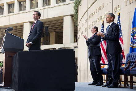 James Comey during installation ceremony as director of FBI, Oct. 28, 2013.