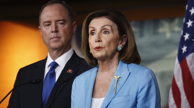 House Speaker Nancy Pelosi D-Calif said the move now was to eliminate any doubt as to whether the Trump Administration may withhold documents prevent witness testimony disregard duly authorized subpoenas or continue obstructing House of Representatives