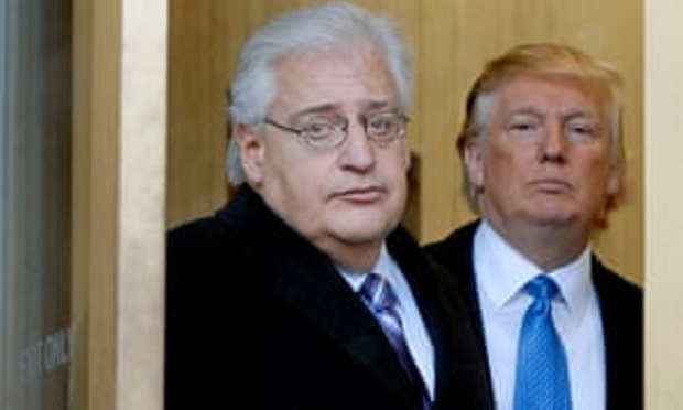 David Friedman was likely involved in an operation that enlisted Israeli Prime Minister Binyamin Netanyahu and a Ukrainian-Israeli oligarch with Cypriot citizenship Ihor Kolomoisky to pressure Ukrainian President Volodymyr Zelensky to agree to dig up poli