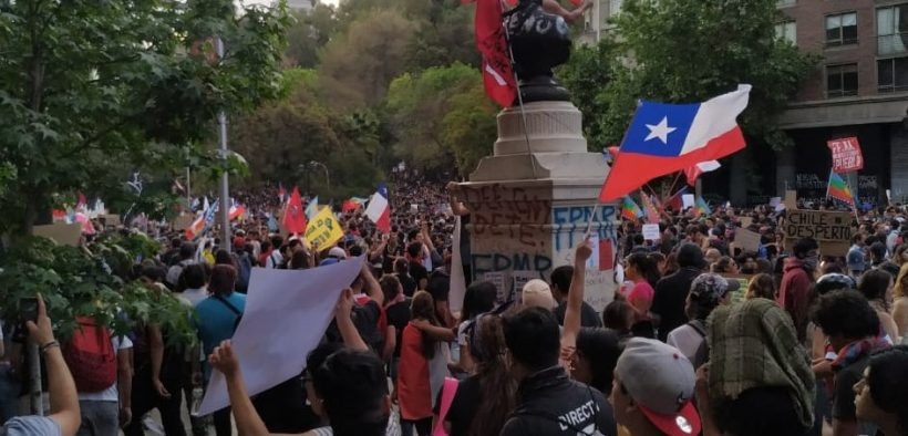 Protests in Santiago, Chile on October 27, 2019., From InText