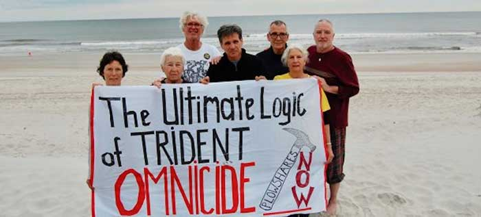 The Kings Bay Plowshares 7 activists at oceanfront in Georgia., From InText