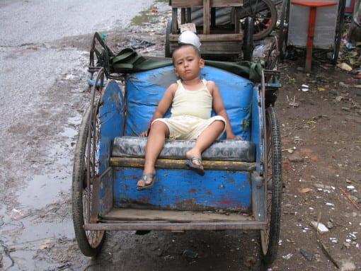 Jakarta child from the slum