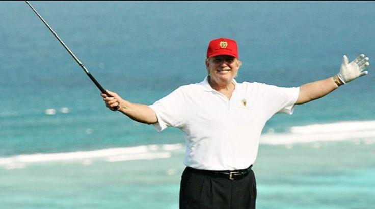 Trump golfing, From InText