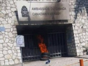 Molotov cocktail thrown at Canadian Embassy in Port-au-Prince