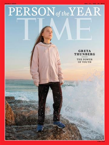 Greta Thunberg is TIME's 2019 Person of the Year., From InText