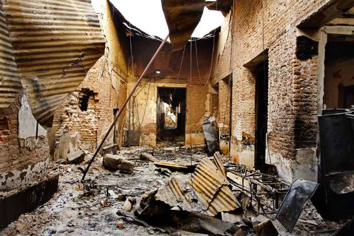 Kunduz Doctors-Without-Borders hospital attacked by US gunship. This 2015 war crime alone should have ended the US war in Afghanistan