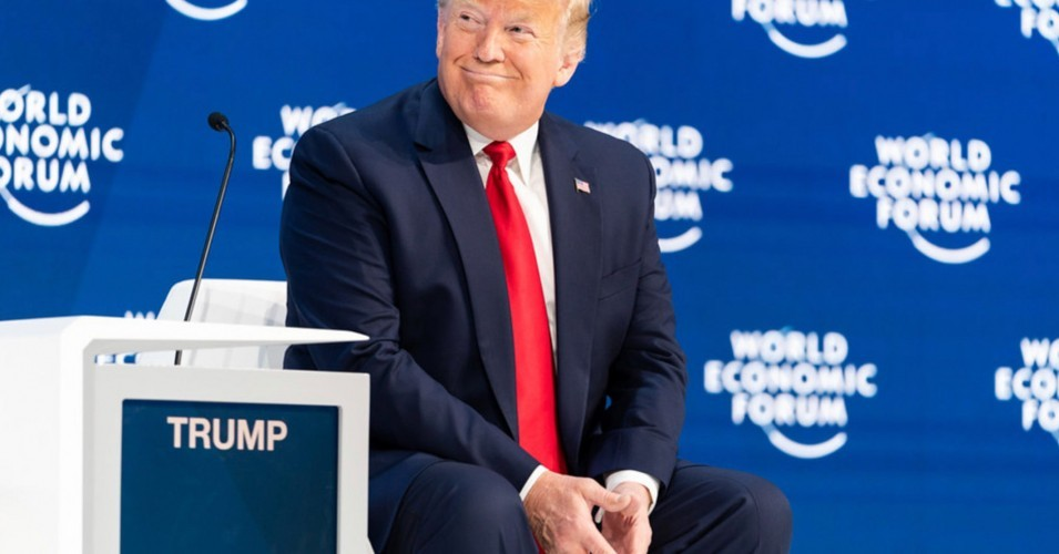 Donald Trump at the 2020 World Economic Forum summit in Davos, Switzerland, on Tuesday.