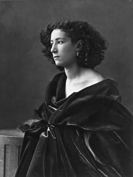 Sarah Bernhardt photograph from 1864.