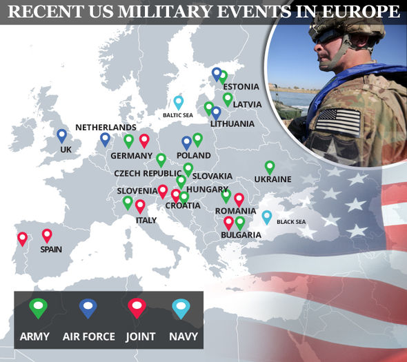 US military bases in Europe, From InText