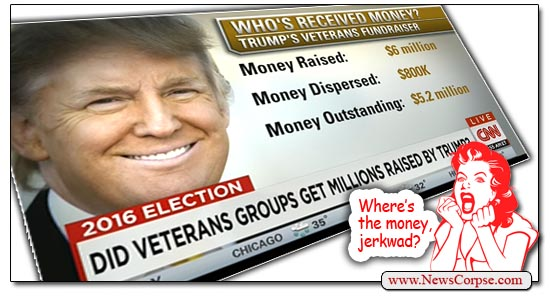 Trump stealing from vets
