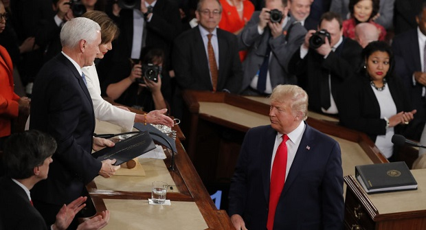 Trump Appears to Refuse to Shake Nancy Pelosi's Hand During State of the Union Address