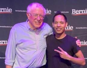 Bernie Sanders and CJ Berina