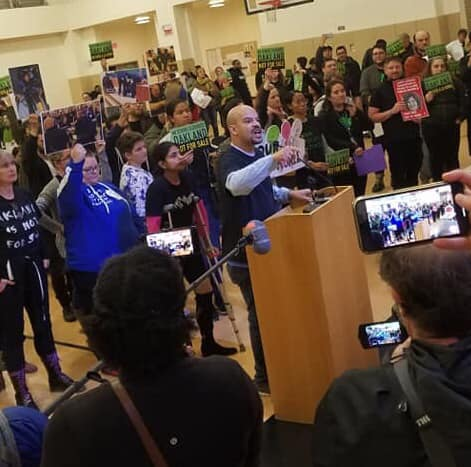 The community protest against Bradford's charter oversight in Oakland (OPEN), From InText