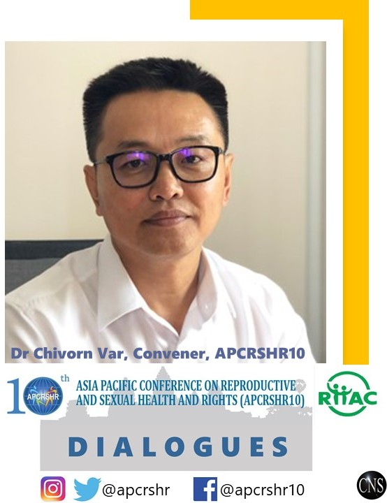 Dr Chivorn Var, convener of #APCRSHR10 and Executive Director of Reproductive Health Association of Cambodia