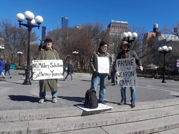 Activists practice