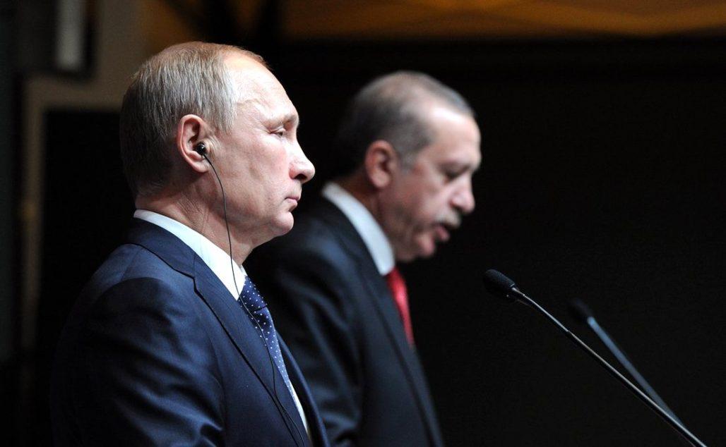 Russian President Vladimir Putin and Turkish President Recep Tayyip Erdogan at a press conference in Turkey, Dec. 1, 2014., From InText