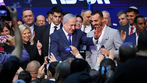 The Israeli prime minister has worn down voters by refusing to go while his rival Benny Gantz has no visible path to power