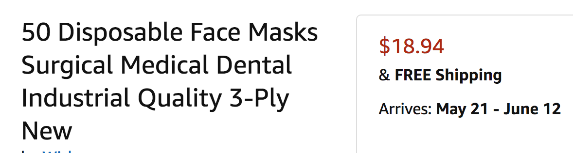with regular shipping you cn have masks in late May or early June