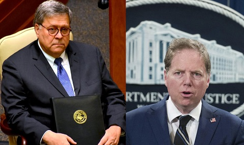 Defendants US Attorney General William Barr and Geoffrey Berman US Attorney for the Southern District of New York