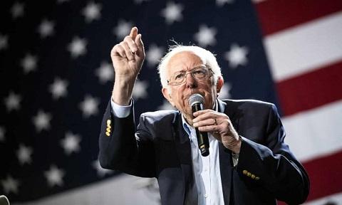 Focused on his message...Bernie Sanders