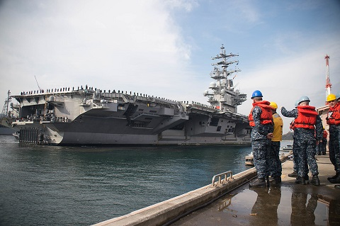 Two U.S. aircraft carriers in the Pacific have been idled by onboard outbreaks of the coronavirus, From InText