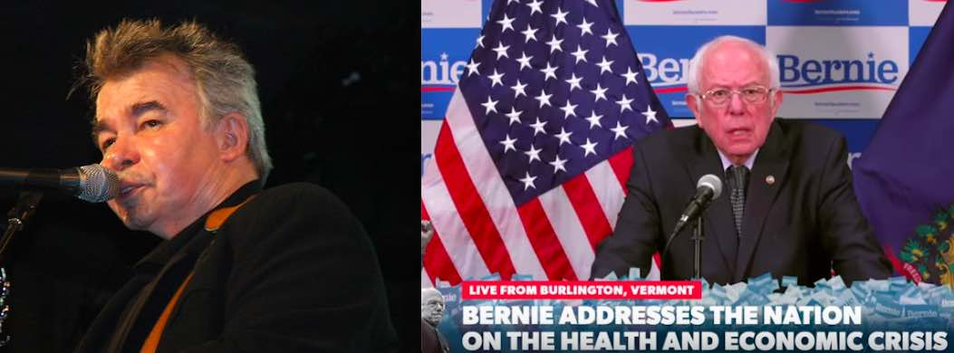 Two pandemic victims: Singer/songwriter John Prine and the presidential campaign of Bernie Sanders