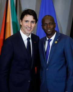 Justin Trudeau and Jovenel Moïse