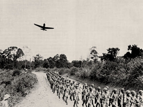 Indian army marching in 1962 war, during which Indian Air Force was not used.