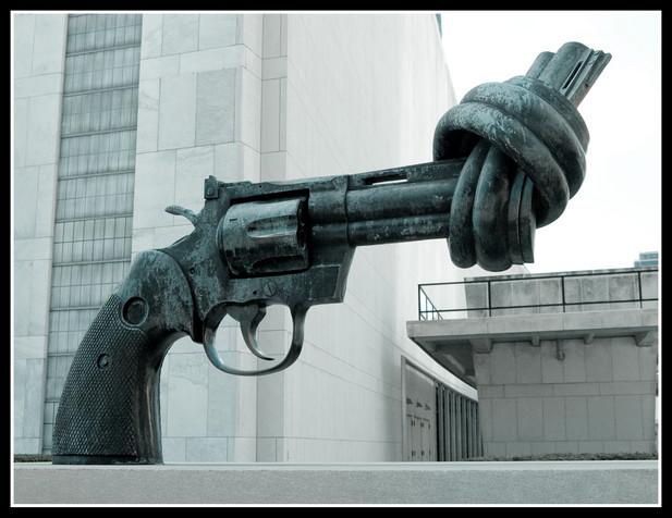 The Knotted Gun by Carl Fredrik Reuterswärd