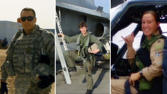 Left to Right: Cal Cunningham, Amy McGrath, MJ Hegar., From InText
