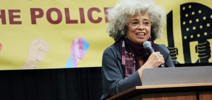 Famed political freedom fighter Angela Davis gives a keynote speech at the NAARPR Re-founding Conference in Chicago this weekend, From InText