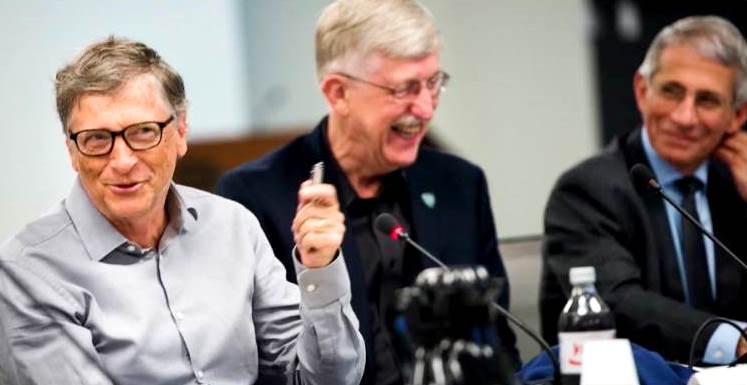 Dr. Fauci, Bill Gates & Dr. Francis Collins (NIH Director)